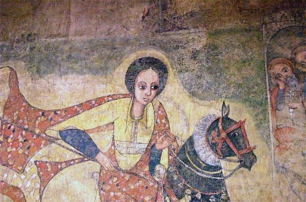 17th century AD painting of the famous Queen of Sheba from a church in Lalibela, Ethiopia. (Magnus Manske/CC BY SA 2.0)