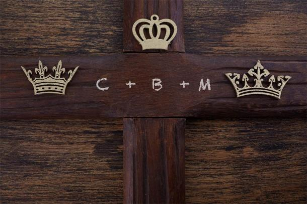 Epiphany day home blessing tradition: Chalking the door with the three letters of the Biblical Magi: Caspar, Melchior, and Balthasar. From another perspective, C, M, B also stands for: Christus Mansionem Benedicat or God Bless This House. (vetre / Adobe Stock)