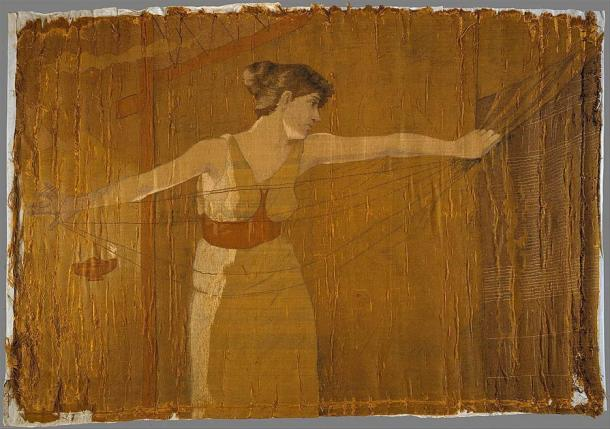 In Western literature, the male often represents an active or combative principle, while the female is the passive or receptive principle, such as in Homer's Odyssey. In the image, Penelope can be seen unraveling her work at night. (Dora Wheeler Keith / CC0)