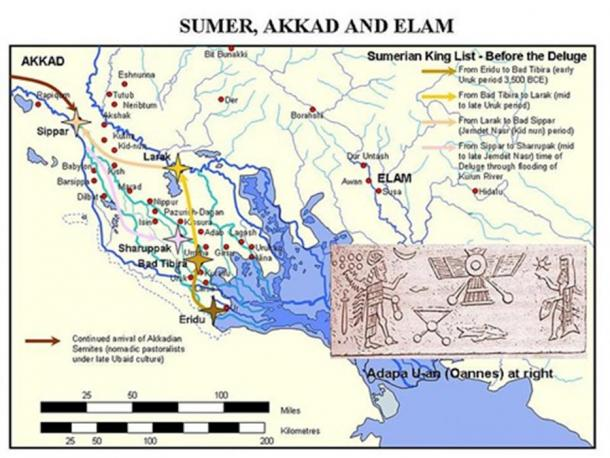 Sumer before the deluge, or Uruk and Zdemdet Nsar periods in ancient Mesopotamia. (Public Domain)