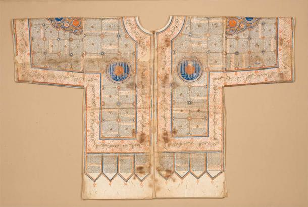 A Talismanic shirt made in India in the 15th or 16th century. (Metropolitan Museum of Art / Public Domain)