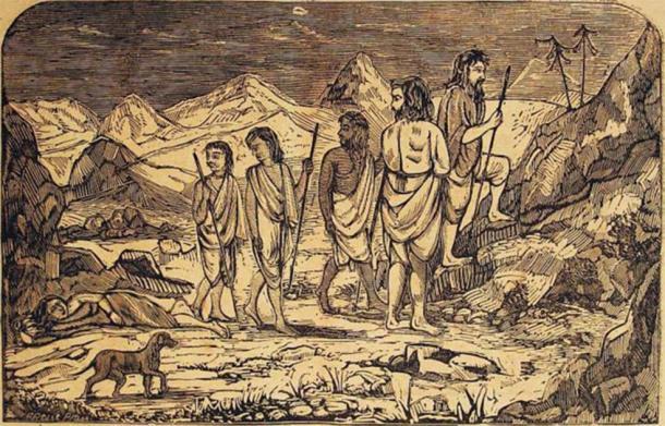 The Pandava brothers on mount Swargarohini. (Author provided)
