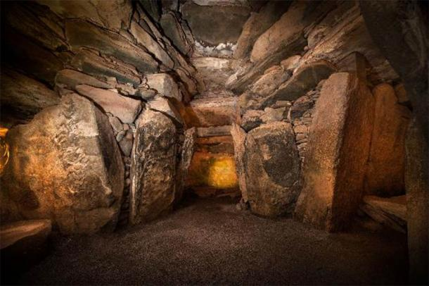 The chamber inside Newgrange. Credit: Ken Williams, shadowsandstone.com