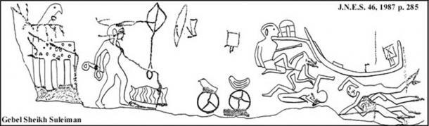 Djabal Shaykh Sulayman Inscriptions depicting King Djer battling the Nubians. (Public Domain)