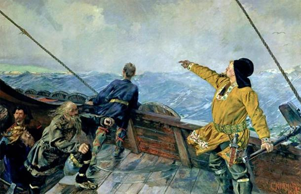 A depiction of Leif Eriksson discovering the Americas, painted in 1893. (Christian Krohg / Public domain)