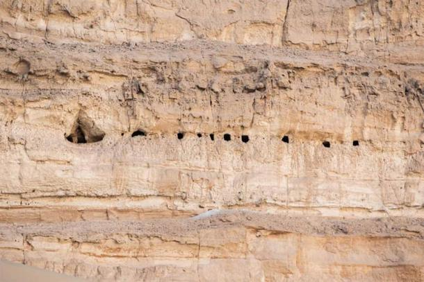 Tombs were often dug high up on cliff faces for protection against theft and sabotage. (Ministry of Tourism and Antiquities)