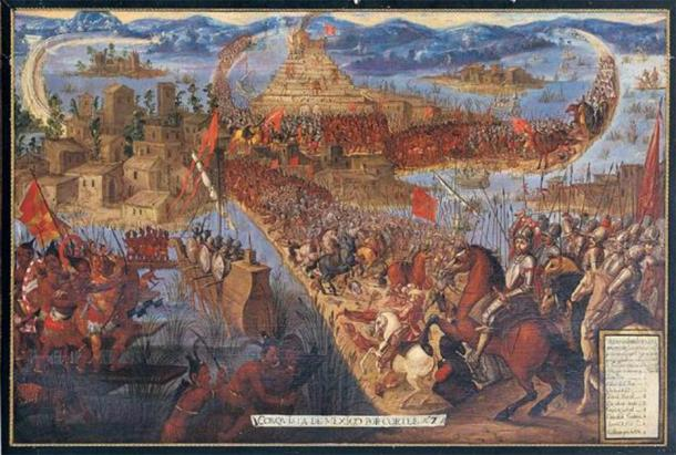 'The Conquest of Tenochtitlán' (Public Domain)