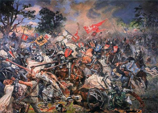 The Battle of Grunwald of 1410, seen in this 1931 oil painting by Wojciech Kossak, is of great importance to both the Polish and the Lithuanian people. (Public domain)