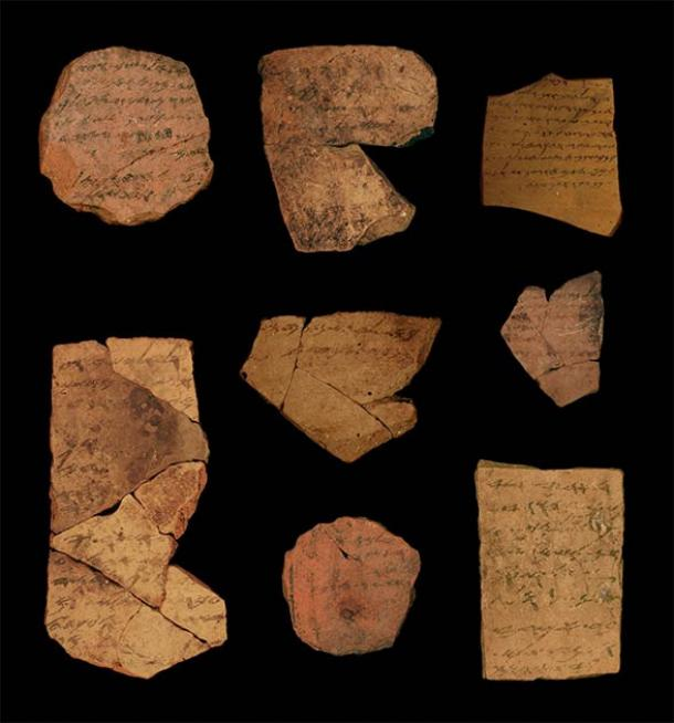 Ancient text shards used in the study. (Michael Cordonsky, Tel Aviv University and the Israel Antiquities Authority)