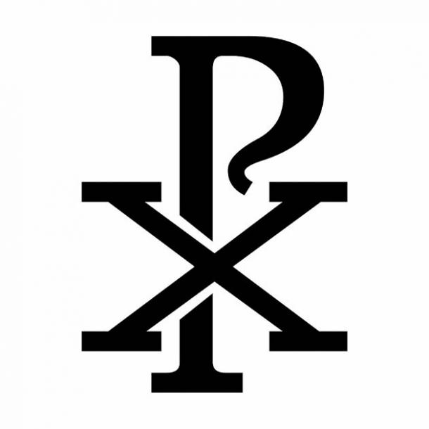 The Chi Rho Christian symbol which is found on the Rivodutri's Alchemical Door in central Italy. (luisrftc / Adobe Stock)