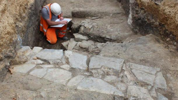 The shells of the medieval Friary buildings have been excavated. (Cotswold Archaeology)