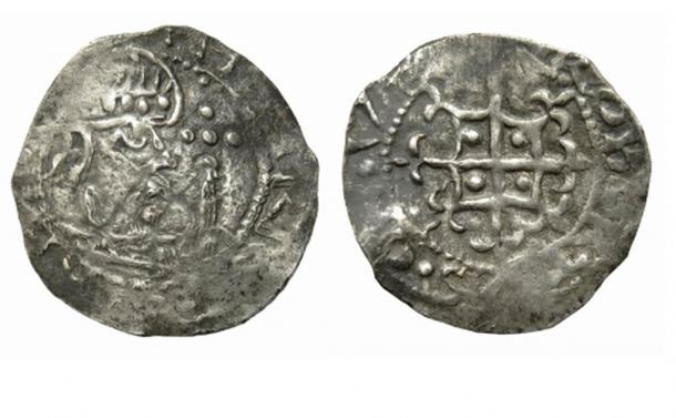 John Denham's Henry of Anjou silver penny. (Hansons Auctioneers)
