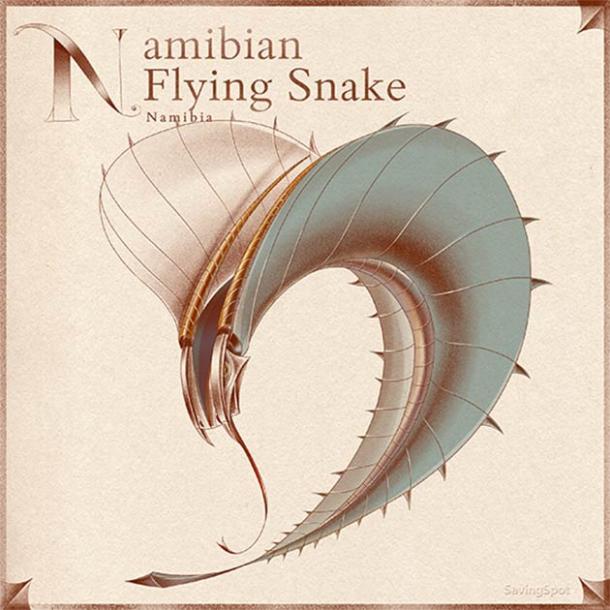 The Namibian Flying Snake. (Laimute Varkalaite/SavingSpot)