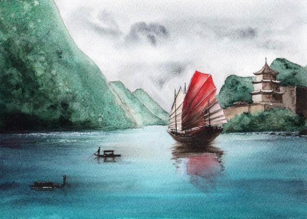 Un antiguo barco chino. (Мария Тарасова / Adobe Stock)