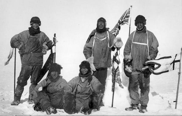 Image showing the members of the fated Terra Nova expedition led by Robert Falcon Scott. (Public domain)