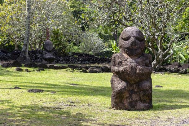 French Polynesia Tahiti Carved Stone Tiki Statue. (Tom Nast/Adobe Stock)