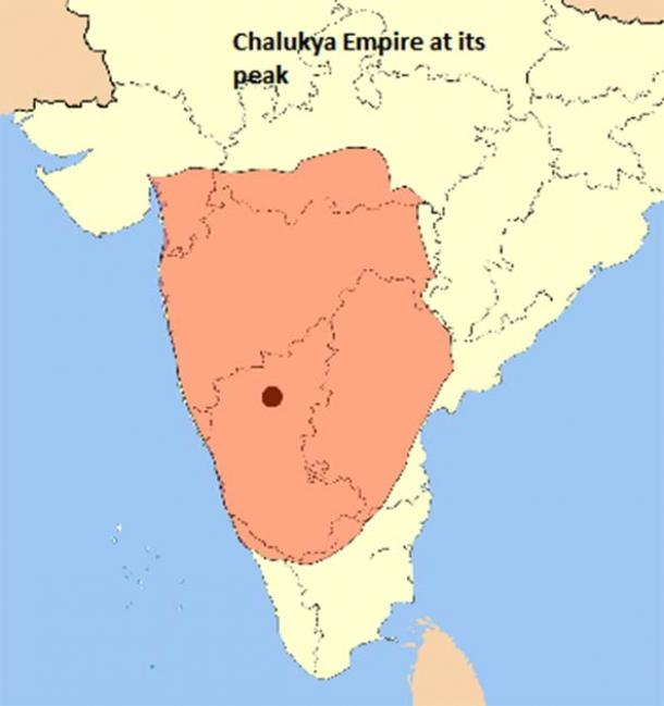 The empire of the Chalukyas at their peak, which also included a fair bit of the Pallava empire. (Kaja.Bhanu7 / CC BY-SA 4.0)