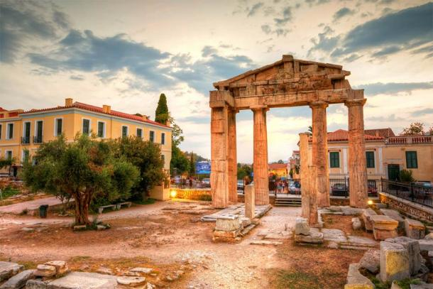 Remains of the Gate of Athena Archegetis and Roman Agora in Athens (milangonda / Adobe Stock)