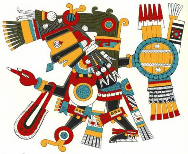 The god Tezcatlipoca in Aztec belief was responsible for creating war and as the source of food and drink for all the other gods. (CC BY-SA 3.0)