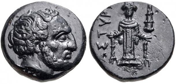 A coin showing Tissaphernes the satrap whom Alcibiades also advised.