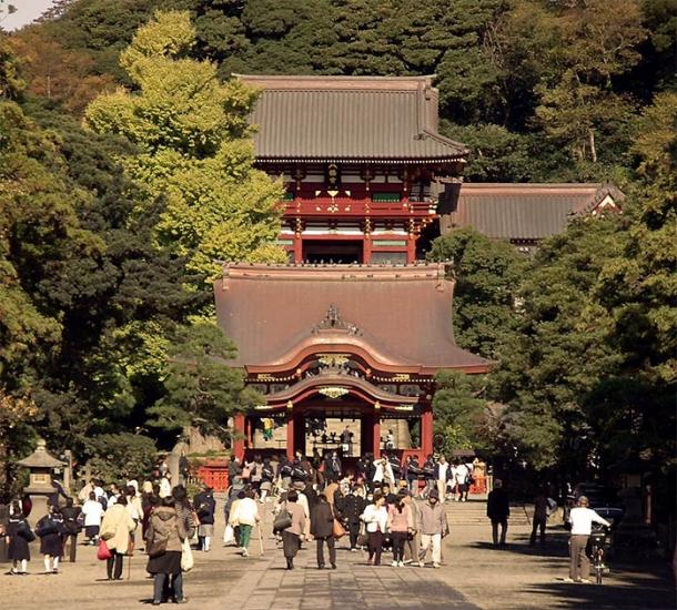 Tsurugaoka Hachiman Shrine in Kamakura, capital of the Minamoto Clan's Kamakura shogunate. (Fg2 / Public domain)