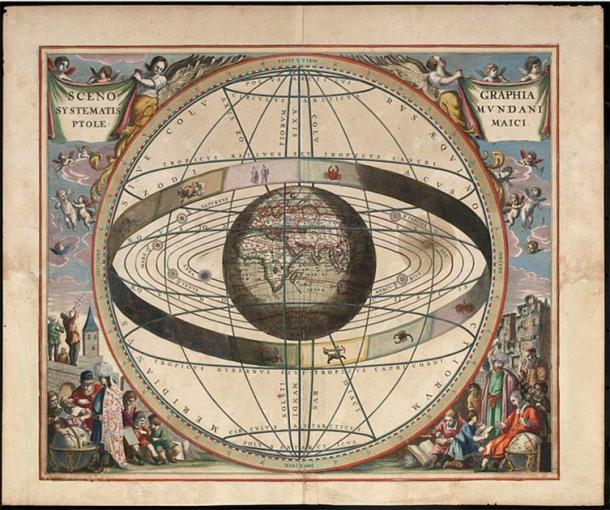 Andreas Cellarius illustration from 1660 showing the belt of the Zodiac. (Public domain)