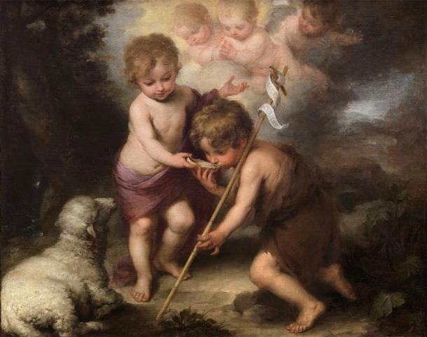 The Holy Children: John the Baptist (right) with child Jesus. (Bartolomé Esteban Murillo (1670) / Public domain)