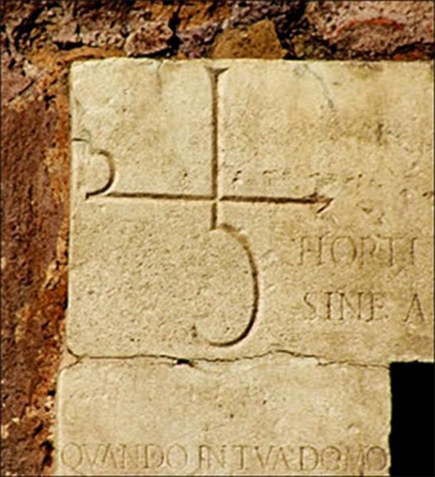 The symbols for Saturn and Lead (Image: Courtesy Dr Roberto Volterri)
