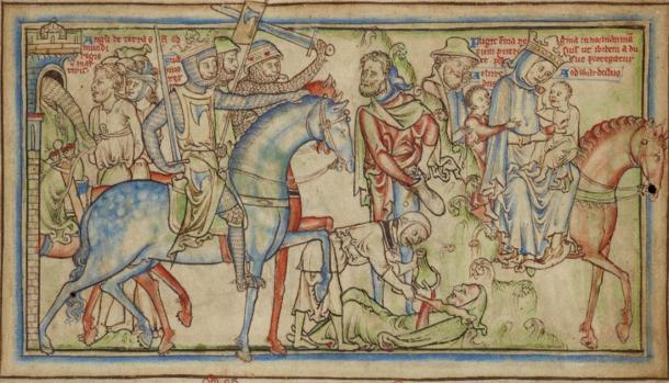 Sweyn Forkbeard invades England      Source: Public Domain