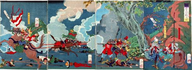 Ieyasu Tokugawa es victorioso en la batalla de Sekigahara y se convierte en el primer shogun Tokugawa (dominio público)