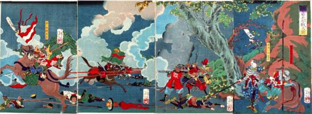 Ieyasu Tokugawa is victorious in the Battle of Sekigahara and becomes the first Tokugawa shogun (Public domain)