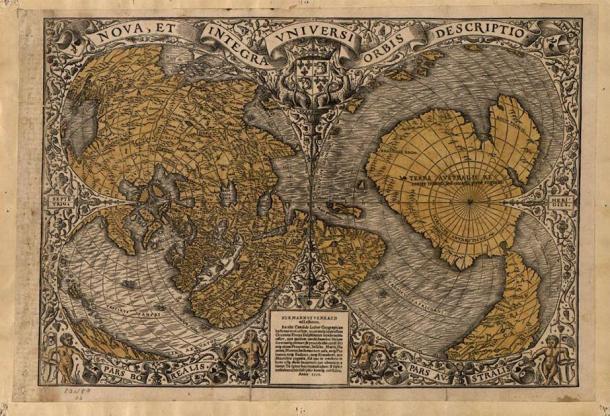 Oronteus Finaeus Map. (Public Domain)