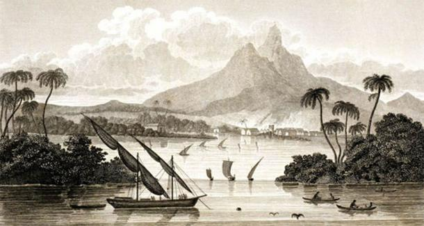 """Gregor MacGregor produced a 355-page guidebook called """"Sketch of the Mosquito Shore, Including the Territory of Poyais"""", part of an aggressive sales strategy which was part and parcel of his spectacular Poyais Scheme, the ultimate confidence trick. (Public domain)"""