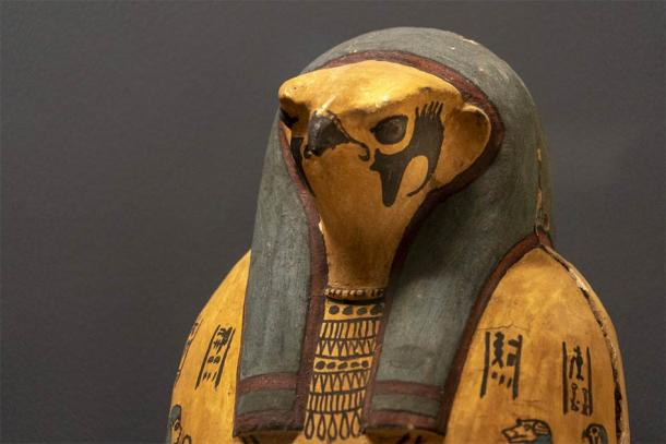 A wooden representation of Horus. (Andrea Izzotti / Adobe Stock)