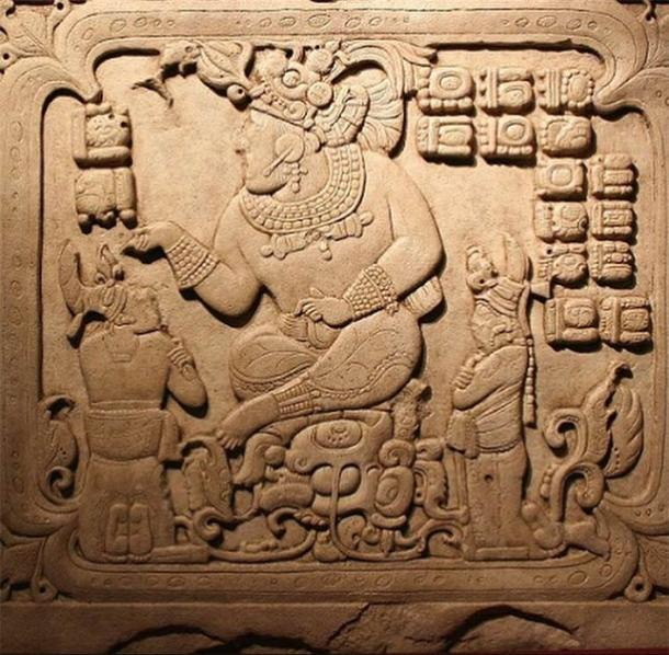 Icon of Maya ruler displaying unique physical traits compared to common Maya people. (visiblelanguagejournal.com)