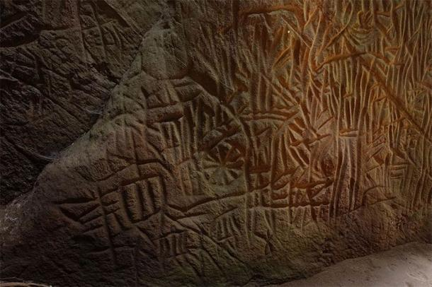 Here are some of the Edakkal Cave engravings, with obvious similarities to those studied at Danigala (Vengolis / CC BY-SA 4.0)