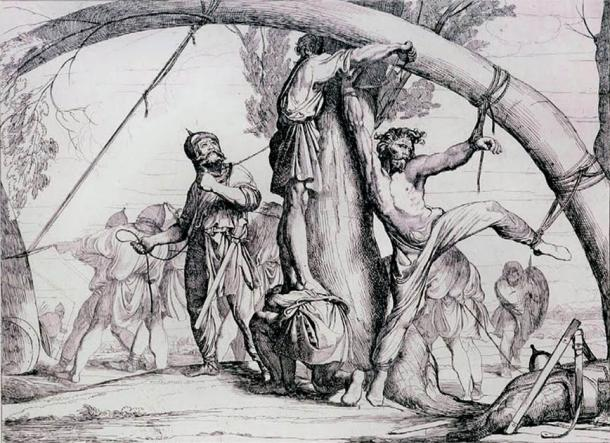The messy death of Igor of Kiev at the hands of the Slavic tribe of the Drevlians. (Public domain)