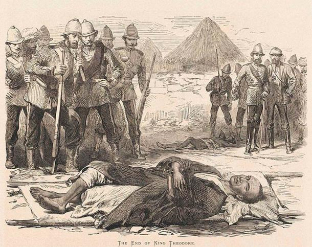 Emperor Tewodros II committed a grave error, by imprisoning several British representatives in 1868, which led to serious reprisals from the British and his subsequent suicide. (Public domain)