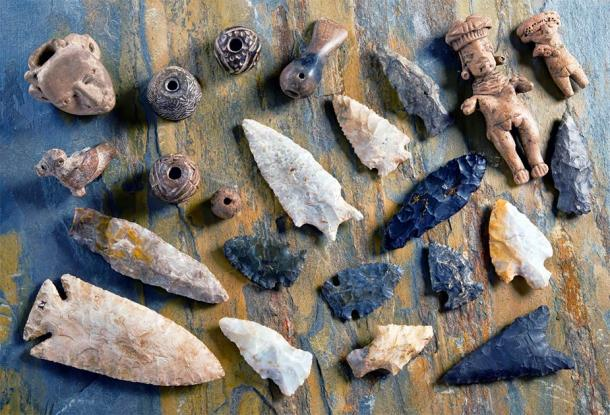 Obsidian flints and other things made by early tool makers that eventually resulted in the first forms of trade. (W.Scott McGill / Adobe Stock)