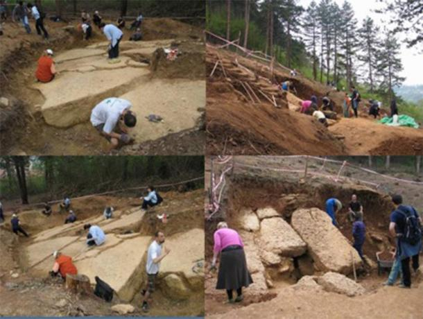 Archaeological excavations taking place on the northern face of the Bosnian Pyramid of the Sun reveal blocks composed of an artificial geopolymer stronger than most modern-day concretes. (Richard Hoyle / The Bosnian Pyramid of the Sun Foundation)