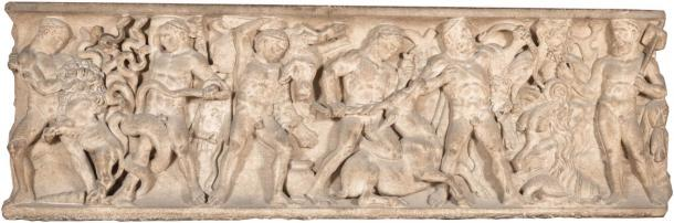 The Roman Hercules Sarcophagi that is now part of the Uffizi Gallery collection in Florence, Italy. (Uffizi Gallery)