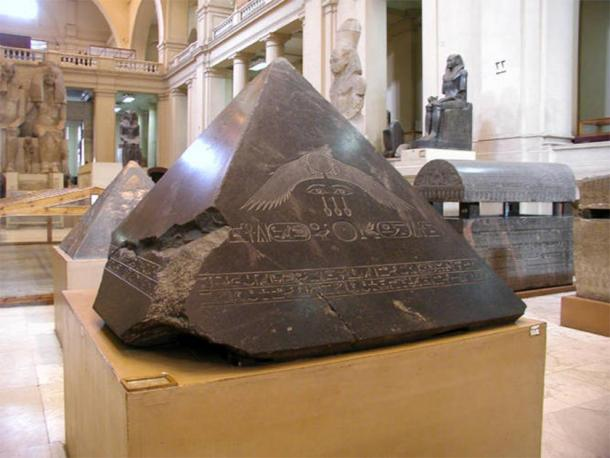 The Benben Stone, which, in Egypt, is the capstone on the Great Pyramid of Giza. (Egyptian Museum / Public domain)