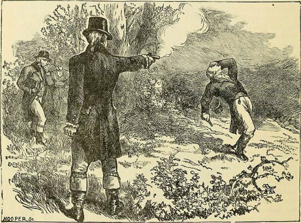 The husband of Eliza Hamilton, Alexander Hamilton, famously died in a duel with Aaron Burr, a full 50 years before her death. (Public domain)