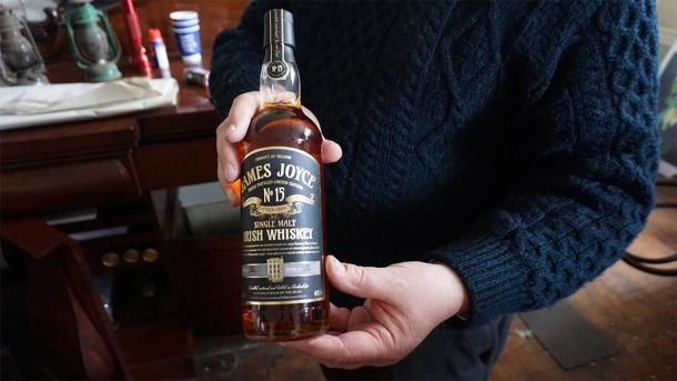 A bottle of James Joyce whiskey shared that day. (Provided by the author)