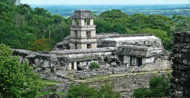 The ancient Maya ruins of Palenque in Mexico. (Marine  / Adobe stock)