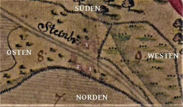 North should be located at the bottom of the 1761 map. (Author provided)