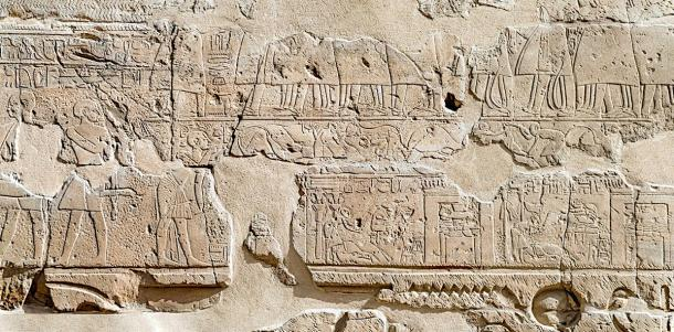Relief at the Luxor Temple depicting the Opet Festival procession. (kairoinfo4u / CC BY-NC-SA 2.0)