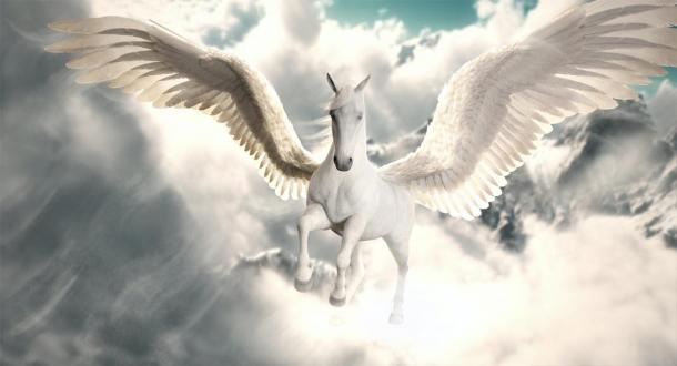 Depiction of the mythical horse Pegasus. (storm / Adobe stock)