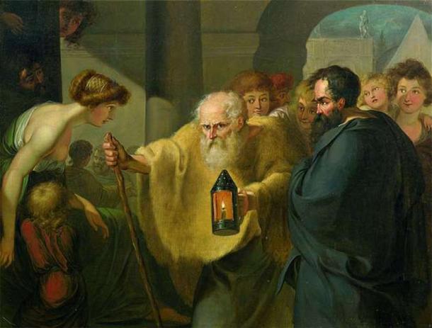 'Diogenes Looking for an Honest Man' (1780s) by Johann Heinrich Wilhelm Tischbein. (Public Domain)