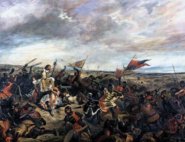 King John at the Battle of Poitiers by Eugène Delacroix. (Public Domain)
